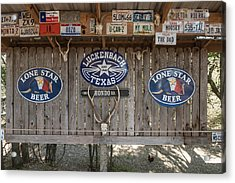 An Eclectic Display In Luckenbach Acrylic Print by Carol M Highsmith
