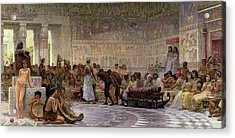 An Egyptian Feast Acrylic Print by Edwin Longsden Long