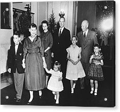An Eisenhower Christmas Acrylic Print by Underwood Archives