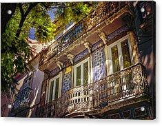An Elegant Balcony In Lisbon Portugal  Acrylic Print