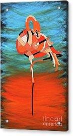 An Elegant Flamingo Acrylic Print
