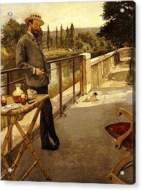 An Elegant Man On A Terrace Acrylic Print