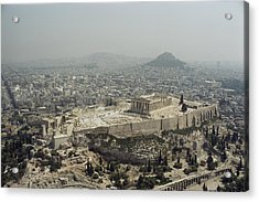 An Elevated View Of The Parthenon Acrylic Print by James P. Blair