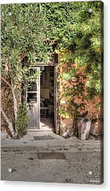 Acrylic Print featuring the photograph An Entrance In Santorini by Tom Prendergast