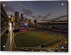 An Evening At Target Field Acrylic Print by Tom Gort