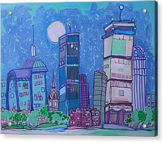 An Evening In Boston Acrylic Print by Jess Lawrence