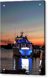 Acrylic Print featuring the photograph An Evening In Newport Rhode Island IIi by Suzanne Gaff