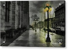 Acrylic Print featuring the mixed media An Evening In Paris by Jim  Hatch