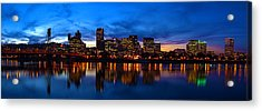 An Evening In Portland Acrylic Print by Brian Bonham
