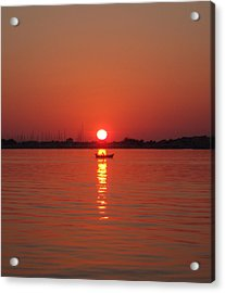 An Evening Row Acrylic Print