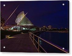 An Evening Stroll At The Calatrava Acrylic Print