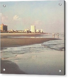 An Evening Walking The Grand Strand Acrylic Print