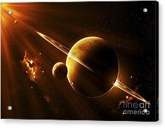 An Extraterrestrial Spacecraft Acrylic Print by Kevin Lafin
