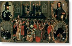 An Eyewitness Representation Of The Execution Of King Charles I Acrylic Print by John Weesop