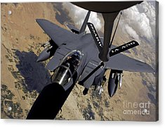 An F-15 Strike Eagle Prepares Acrylic Print by Stocktrek Images