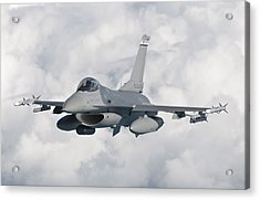 An F-16 From The Colorado Air National Acrylic Print by Giovanni Colla