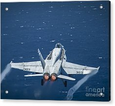 An F A-18c Super Hornet Acrylic Print by Celestial Images