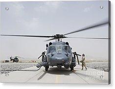 An Hh-60 Pave Hawk Lands After A Flight Acrylic Print by Stocktrek Images