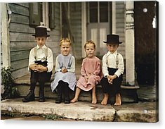 An Informal Group Portrait Of Amish Acrylic Print by J Baylor Roberts