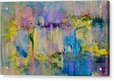 An Iridescent Oil Slick  Acrylic Print by Don  Wright