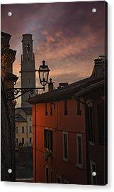 An Italian Sunset Acrylic Print by Carol Japp