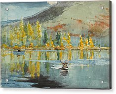 An October Day Acrylic Print by Winslow Homer