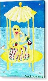 An Octopus Summerhouse Acrylic Print by Sushila Burgess