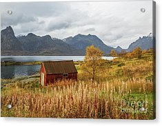 Acrylic Print featuring the photograph An Old Boathouse by Eva Lechner