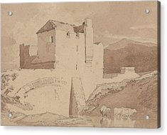 An Old Building Acrylic Print by John Sell Cotman
