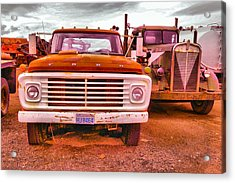 An Old Ford And Kenworth Acrylic Print