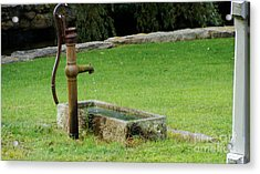 An Old Hand Pump In Plymouth,mass Acrylic Print by Rod Jellison