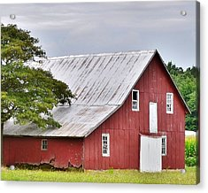 An Old Red Barn Acrylic Print
