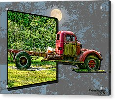 Acrylic Print featuring the photograph An Old Relic by EricaMaxine  Price