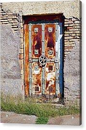 An Old Rusty Door In Katakolon Greece Acrylic Print