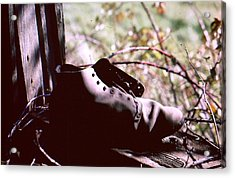 An Old Shoe Acrylic Print by Richard Mansfield