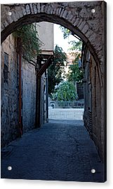 An Old Street In Jerusaem Acrylic Print by Susan Heller