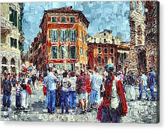 An Old Town Tourist Route Acrylic Print