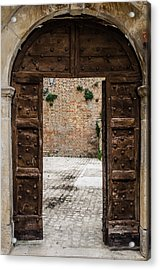 An Old Wooden Door 2 Acrylic Print by Andrea Mazzocchetti