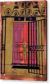 An Open Gate Acrylic Print by Joan Reese