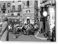 An Ordinary Day In Trastevere Acrylic Print by Emanuel Tanjala