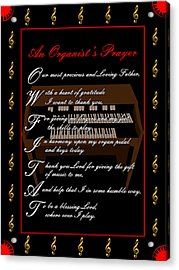An Organists Prayer_1 Acrylic Print by Joe Greenidge