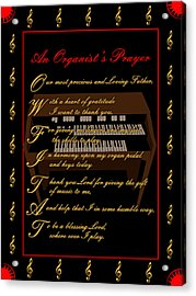 An Organists Prayer_2 Acrylic Print by Joe Greenidge