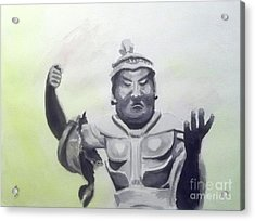 Acrylic Print featuring the painting An Oriental Statue At Toledo Art Museum - Ohio by Yoshiko Mishina