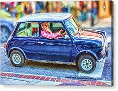 An Original Mini Cooper Acrylic Print by John Haldane