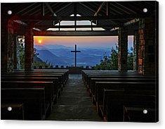 An Outdoor Mountain Chapel   Symmes Chapel Aka Pretty Place  Greenville Sc Acrylic Print