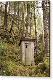 An Outhouse In A Moss Covered Forest Acrylic Print by Michael Melford