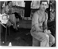 An Unemployed Lumber Worker Acrylic Print by Everett