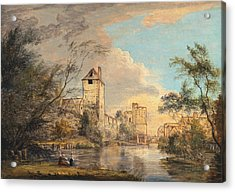 An Unfinished View Of The West Gate, Canterbury Acrylic Print by Paul Sandby