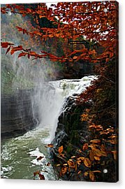 An Upper Letchworth Autumn Acrylic Print