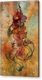 An Vintage Cherry Blosom Acrylic Print by Irina Effa